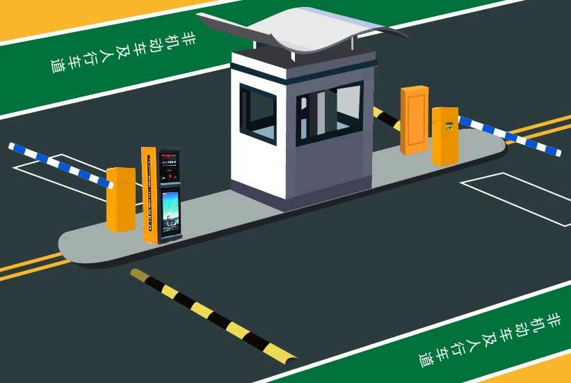 智能IC卡停车管理系统效果图
