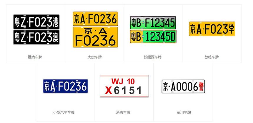 识别多种类型车牌